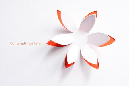 Grußkarte whith Papierblume