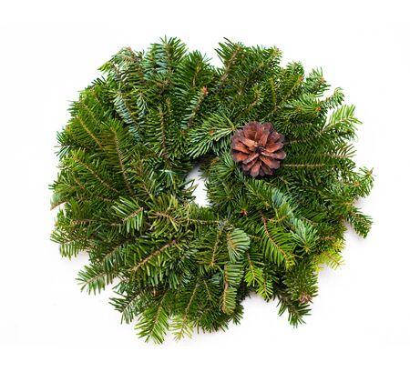 Traditional green christmas wreath