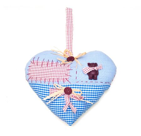 Heart with tablecloth texture