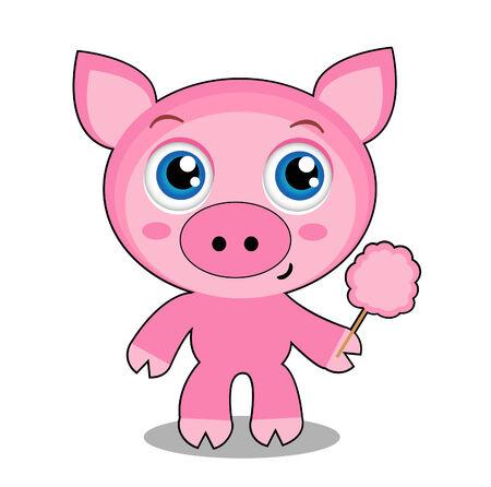 piglet: Cute piglet character Illustration
