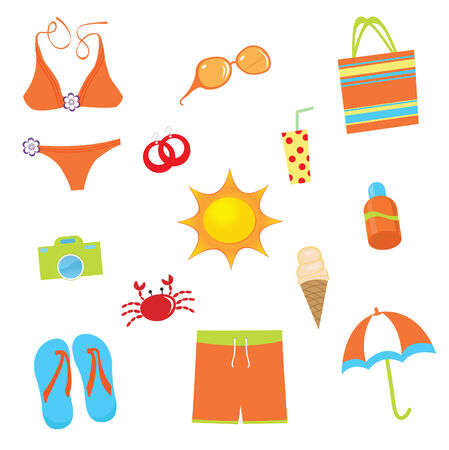 Colorful summer set Stock Vector - 7314840