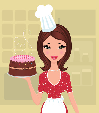 bakers: Beautiful baker Illustration