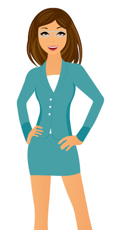woman standing: Business lady Illustration
