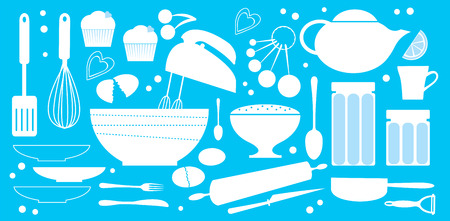 baking dish: Bakery set Illustration