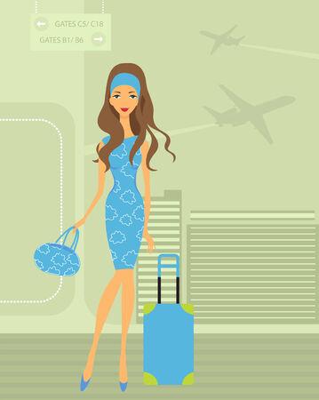 baggage: M�dchen reisen