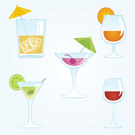 Alcohol drinks Stock Vector - 9074599