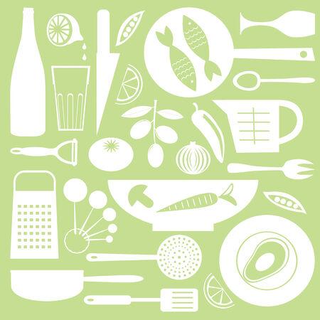 Kitchen background Vektoros illusztráció