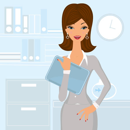 smart woman: Business woman at the office