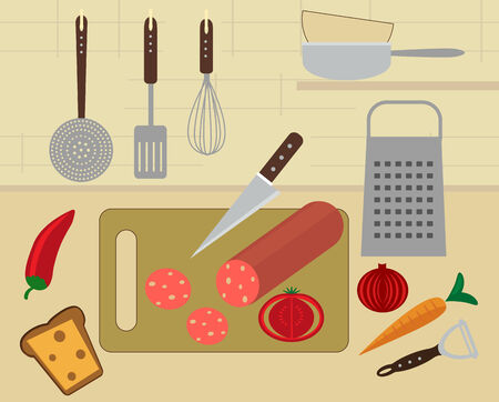 Snack preparation Vector