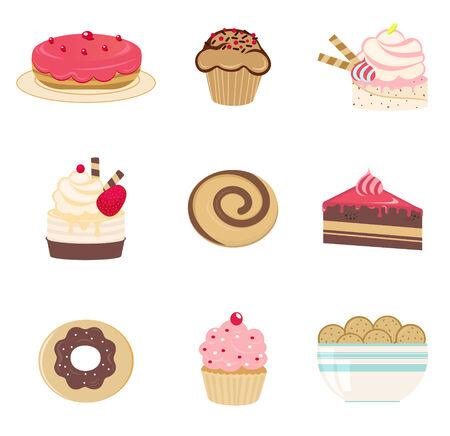 Sweet bakery set  Stock Vector - 9074618