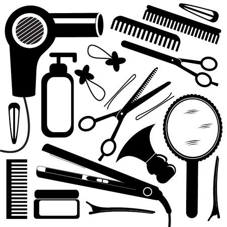 peluqueria: Equipo de peluquer�a Vectores