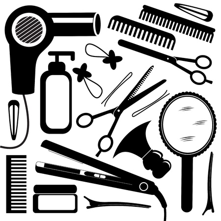 hairdressing scissors: Hairdressing equipment Illustration