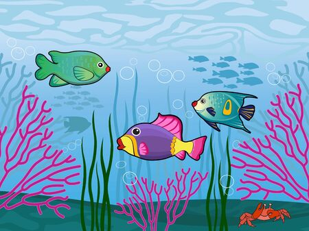 underwater fishes: Sea life Illustration