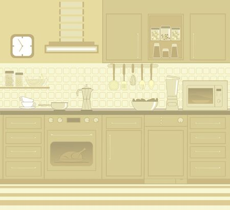 Kitchen furniture Stock Vector - 9716576