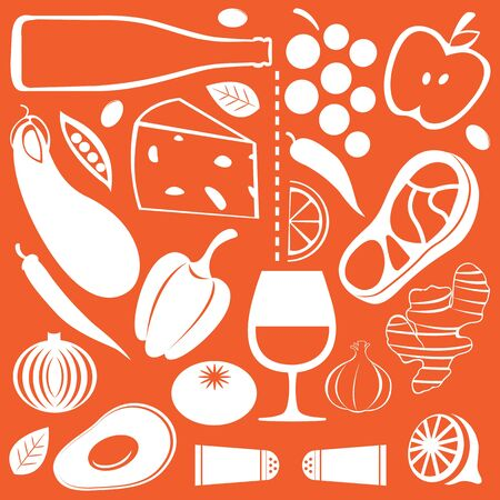salt pepper: Food pattern