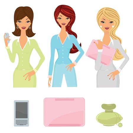 Business women set Stock Vector - 10596172