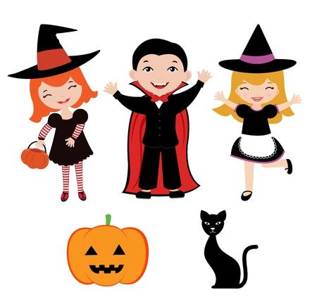 carnival girl: Ni�os de Halloween Vectores