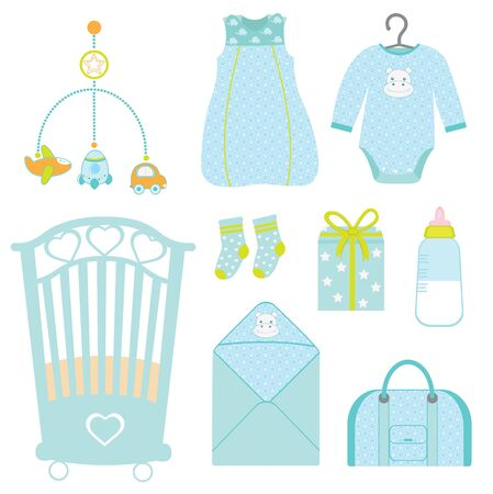 Cute baby boy nursery Vector