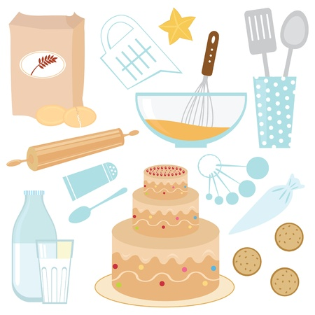 cakes and pastries: Baking a cake