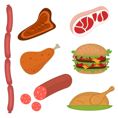 Meat set Stock Vector - 11001833