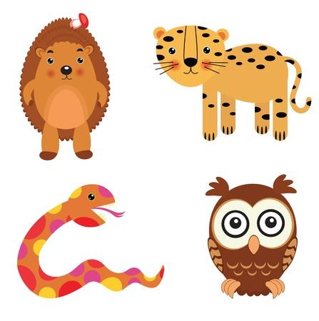 Fun animals set Stock Vector - 11012528