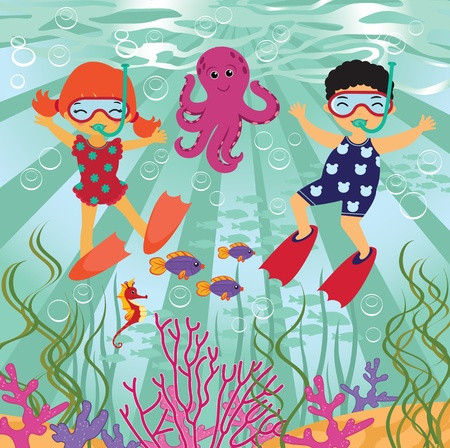 swimming costumes: Diving fun
