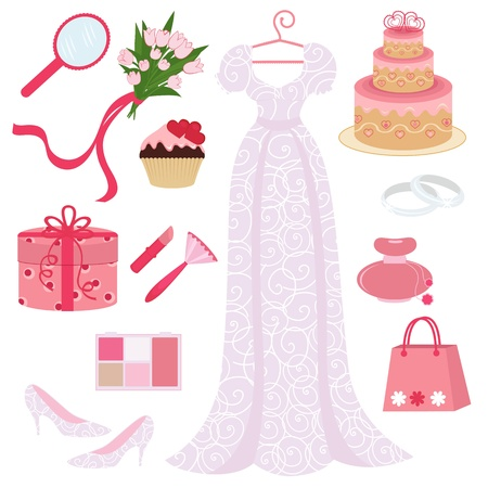 Bridal Shower Set Vektorgrafik