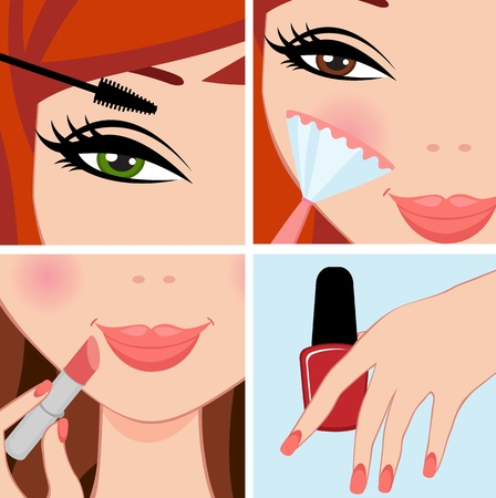 make up: Maquillage ensemble Illustration