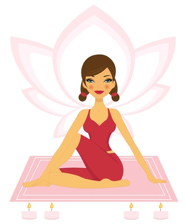 Practicing Yoga Vector