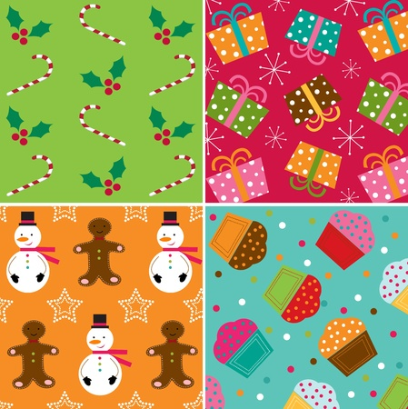 Christmas patterns Stock Vector - 11344689