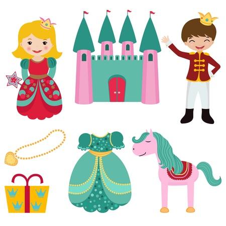 castillos de princesas: Pr�ncipe y princesa conjunto