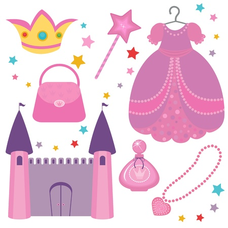 prinzessin: Prinzessin Set Illustration
