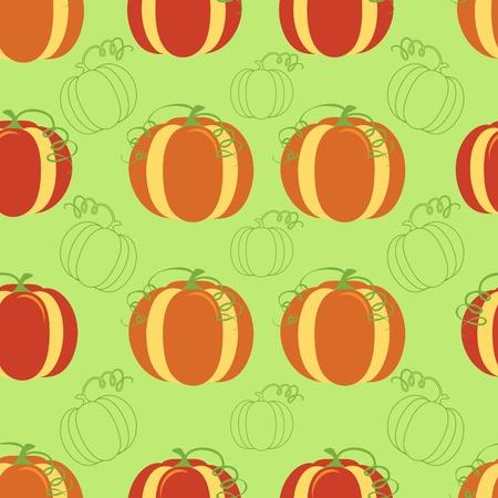 Pumpkin seamless pattern Vector