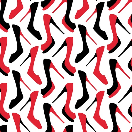 Fashion shoes seamless pattern Vector