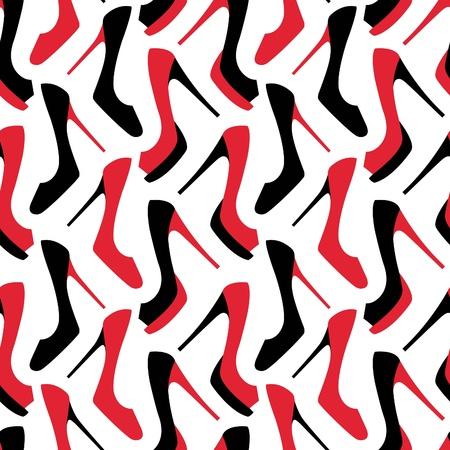 Fashion shoes seamless pattern