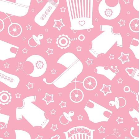 bimbo pannolino: Rosa doccia sfondo bambino senza soluzione di continuit�