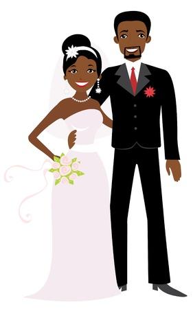 afroamericanas: African American Boda Vectores