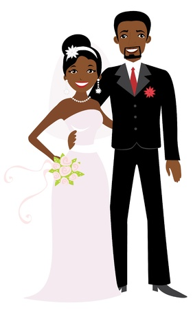 african american couple: African American wedding