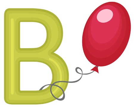 B is for balloon Stock Vector - 13735316