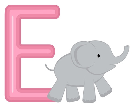 E is for elephant Stock Vector - 13735317