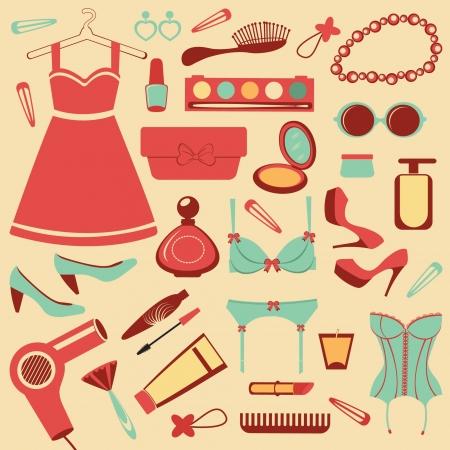 corsetto: Set di moda Vettoriali