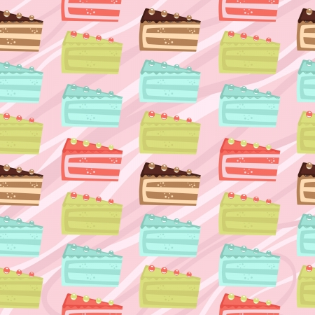 Seamless cake slices background Stock Vector - 13959341