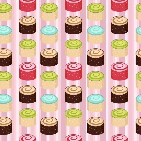 Seamless colorful cakes pattern Stock Vector - 13959340