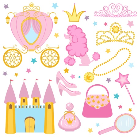 Cute princess collection Vector