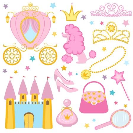 prinzessin: Nette Prinzessin Sammlung Illustration