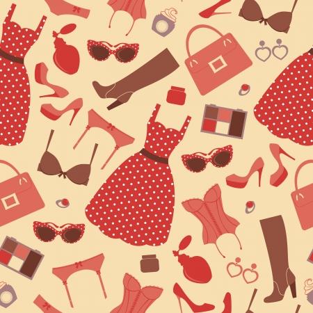 corset: Fashion pattern Illustration