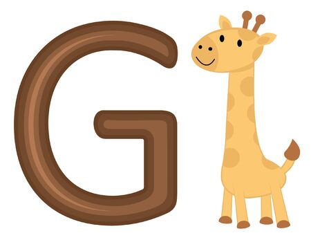 G is for giraffe Vector