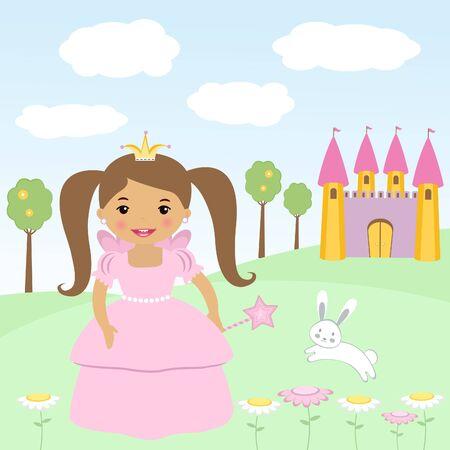 Happy little princess Stock Vector - 14054063