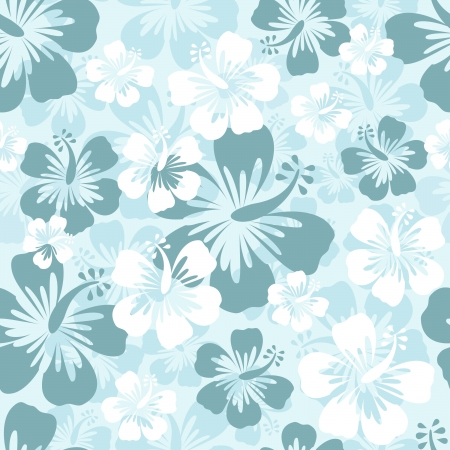 hibiscus background: Hibiscus seamless pattern