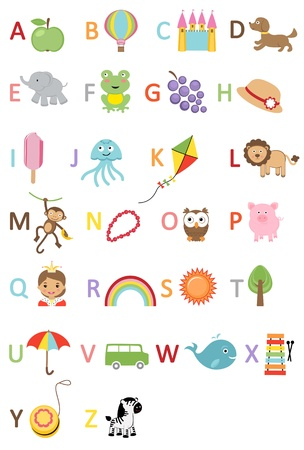 Fun kids alphabet Vector
